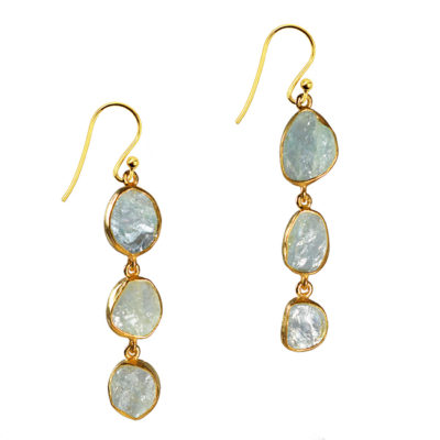 aquamarine drop earrings tara