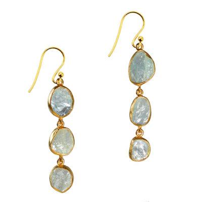 aquamarine drop earrings tara