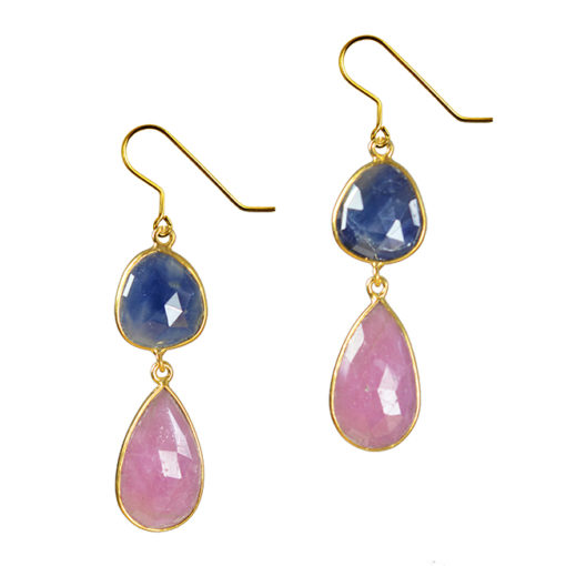 blue pink sapphire earrings talitha
