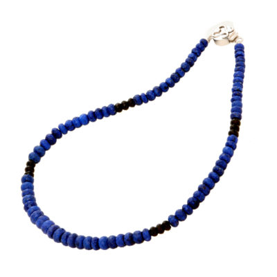 lapis lazuli black spinel bead necklace sofia