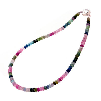 multi tourmaline bead necklace sofia