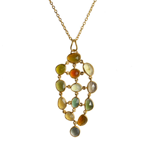 multi tourmaline pendant necklace tara
