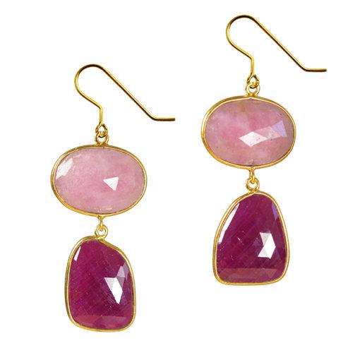 ruby pink sapphire earrings talitha