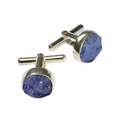cufflinks tanzanite silver tallulah