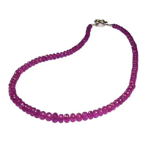 pink sapphire bead necklace sofia