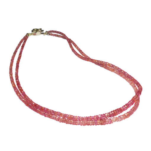 pink sapphire double strand necklace sofia