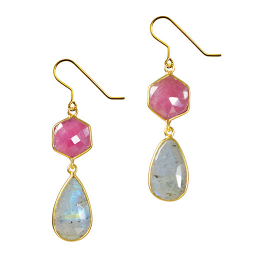 ruby labradorite earrings talitha