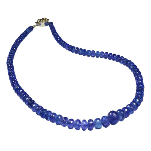 tanzanite bead necklace sofia