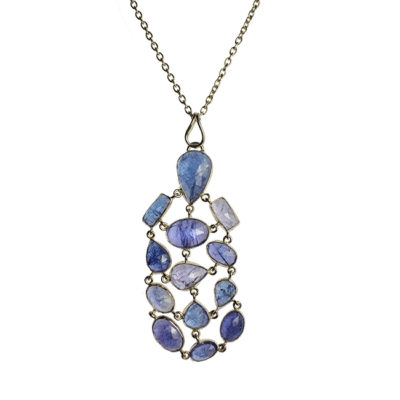 tanzanite pendant necklace silver tara