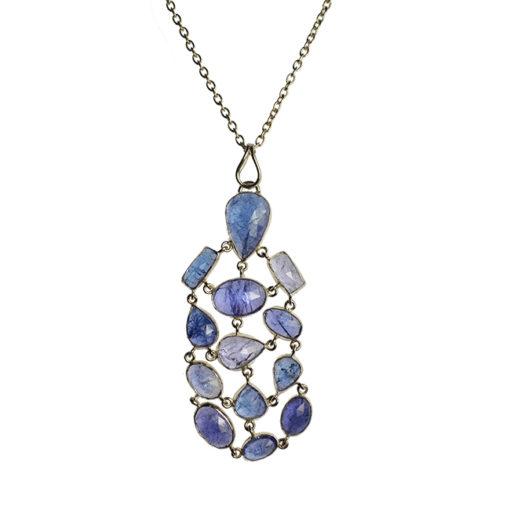 tanzanite pendant necklace silver tara