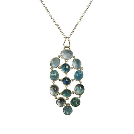aquamarine pendant necklace silver tara