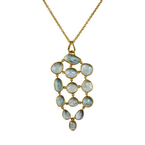 aquamarine pendant necklace tara
