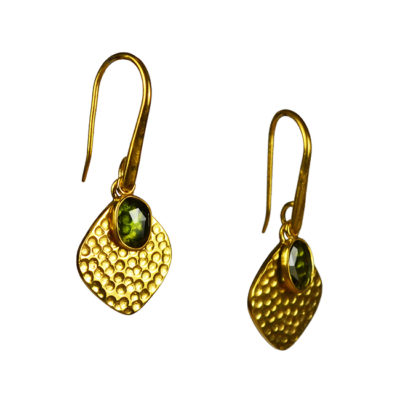 green tourmaline disc earrings tara