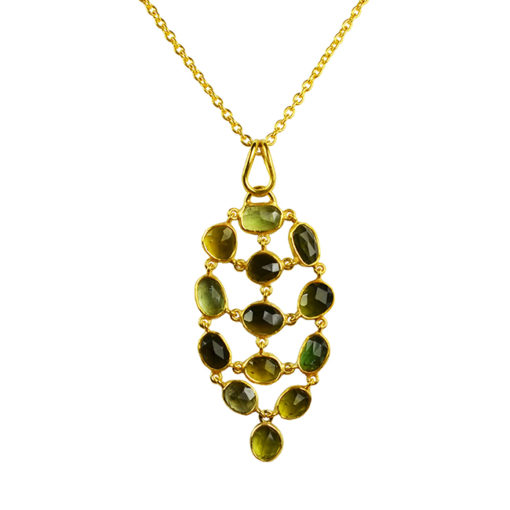 green tourmaline pendant necklace tara