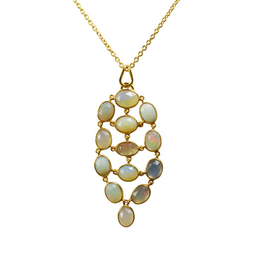 opal pendant necklace tara