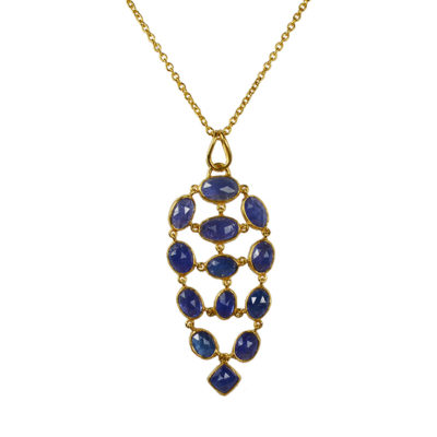 tanzanite pendant necklace tara