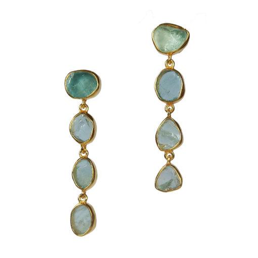 aquamarine stud earrings tara