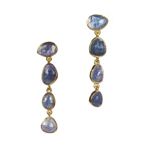 tanzanite stud earrings tara