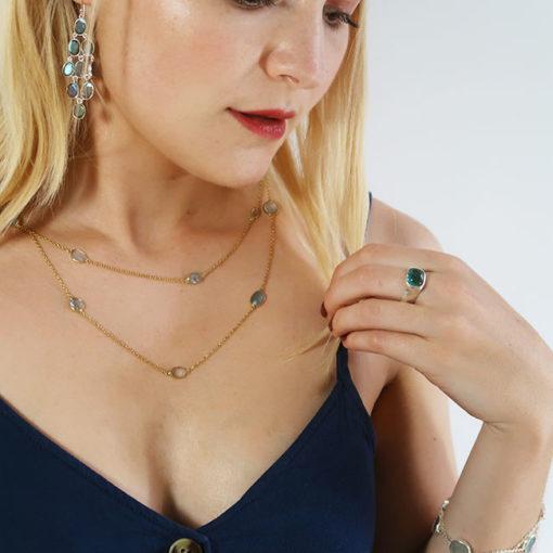 blue tourmaline ring silver