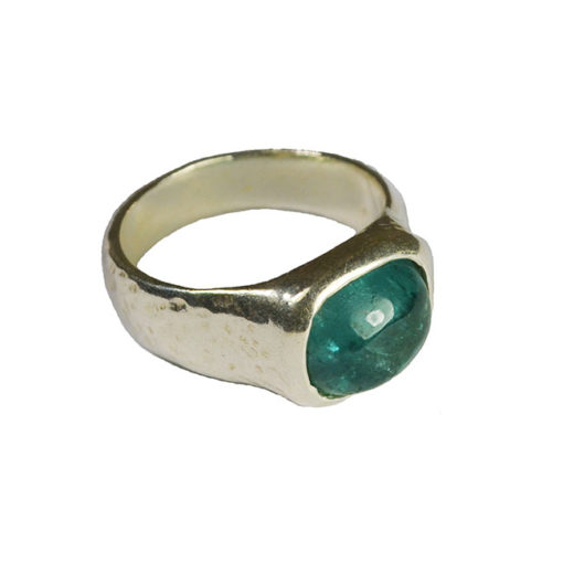 blue tourmaline ring silver