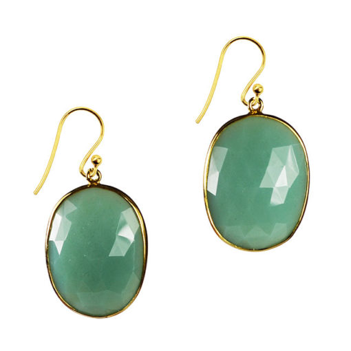 chrysoprase earrings talitha