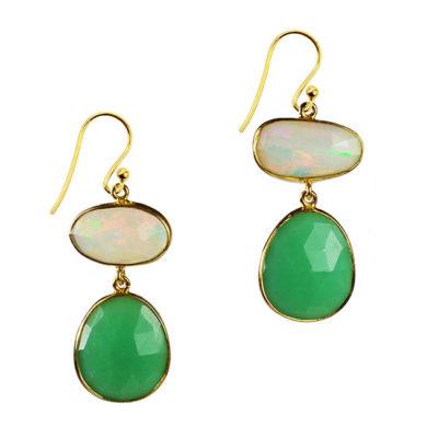 opal chrysoprase drop earrings talitha