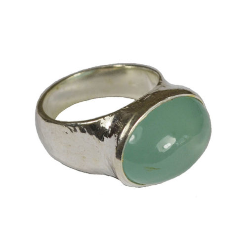 aquamarine cabochon ring silver