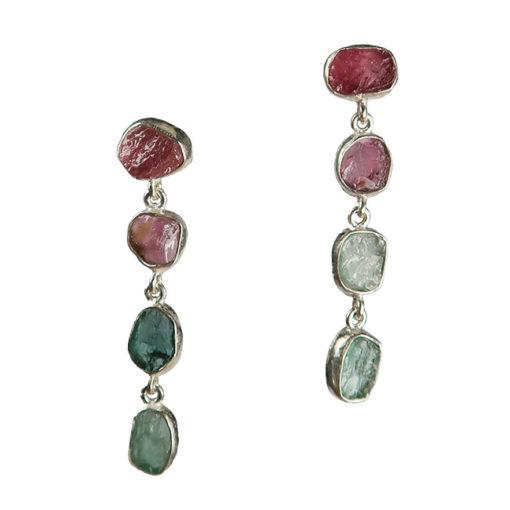 tourmaline stud earrings silver