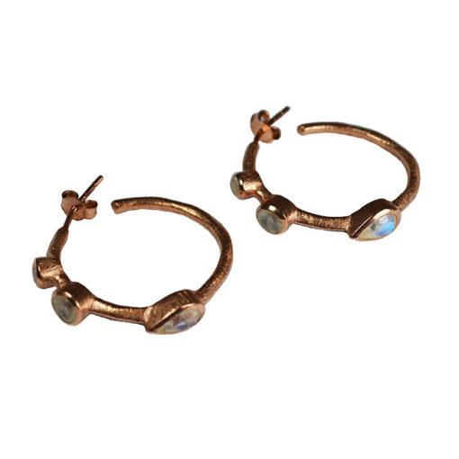 julep earrings rose gold moonstone