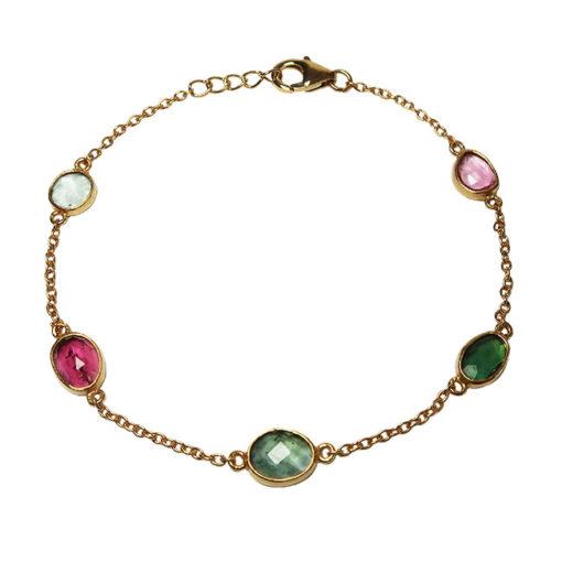 multi tourmaline bracelet