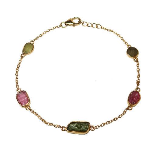 rough cut tourmaline bracelet