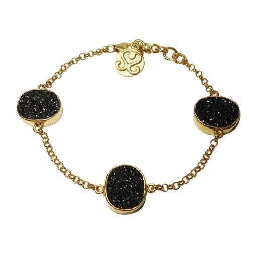 tallulah black drusy bracelet