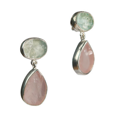 tallulah earrings aquamarine morganite silver