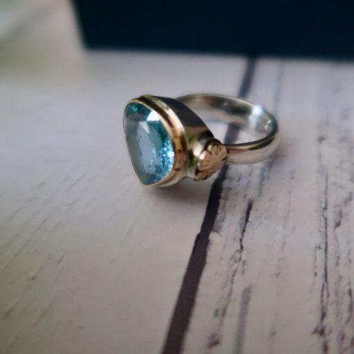 large aquamarine cocktail ring