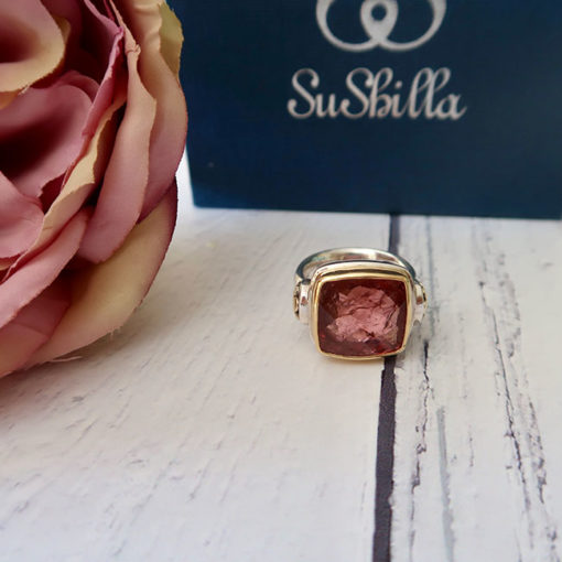 square pink tourmaline ring2