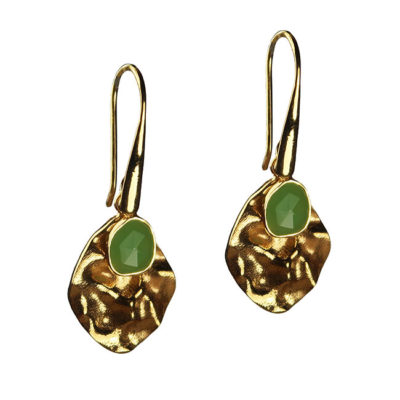 chrysoprase leaf drop earrings