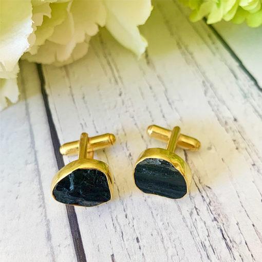 tallulah black tourmaline cufflinks